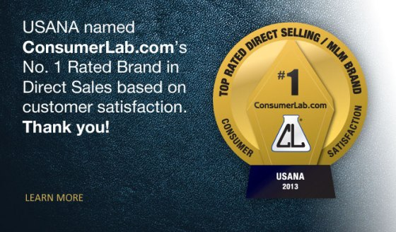 Consumer Labs names USANA the top Nutritional Brand - Again!